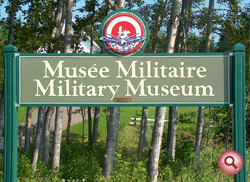 Military Museum Welcome Sign.