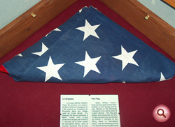 Flag presented to Eldon Tozer's mother.